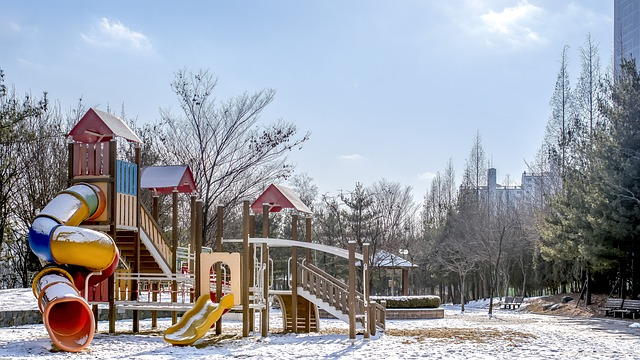 winter playground equipment